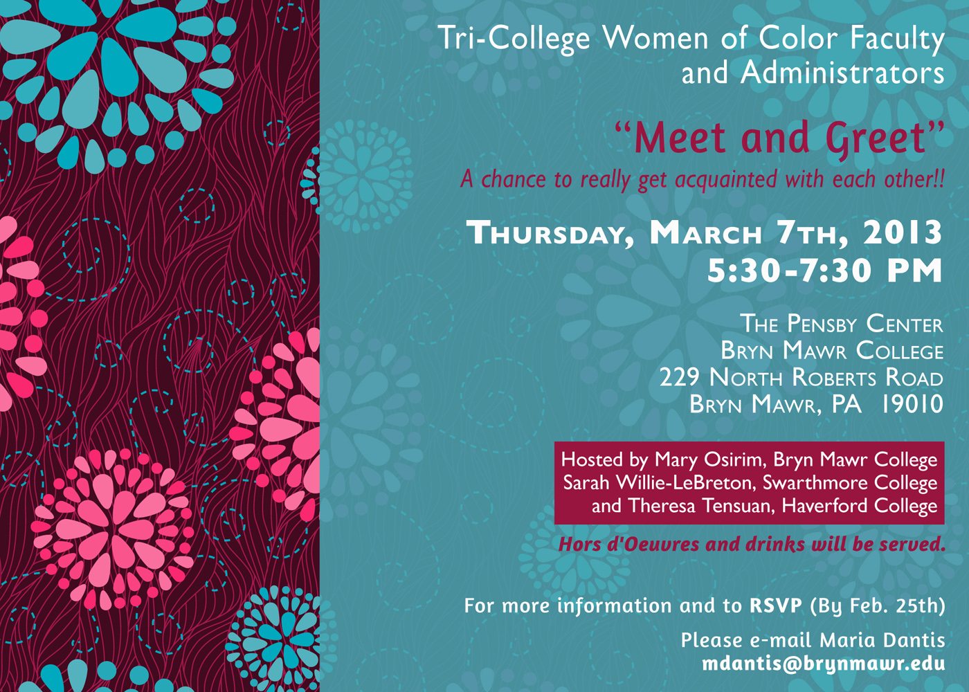 March 7 women of color faculty gathering gsas news and events women of color invitation stopboris Choice Image